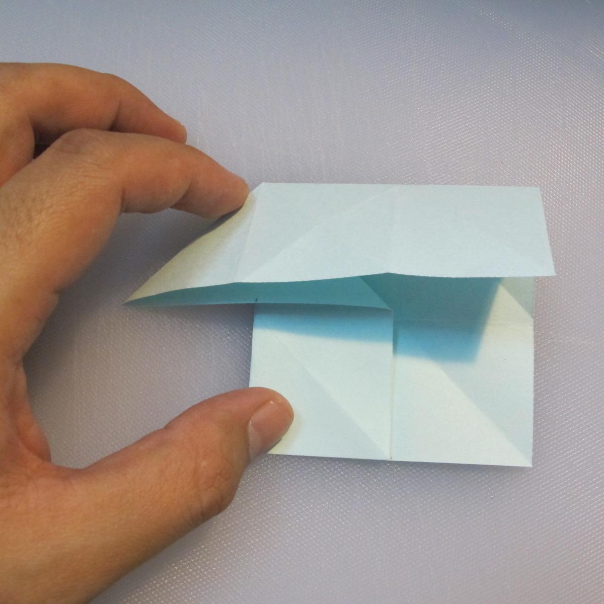 การพับกระดาษรูปดาวกระจาย (Star Origami – スターの折り紙) 009