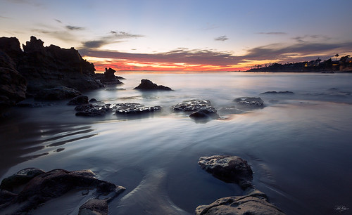 ocean california sunset sea sun beach nature canon seaside naturallight socal 5d 16mm sunsetlight lagunabeach beachside lateday rockyshore 1635mm rockoutcropping ef1635mmf28liiusm 5dm3 mainbeachpark