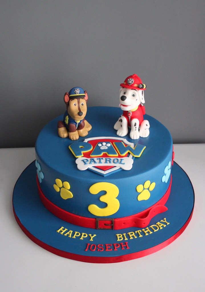 paw patrol cake  paw patrol birthday cake with chase and