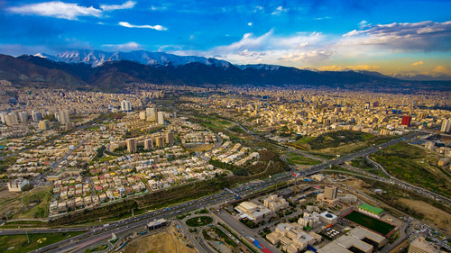 mountain tochal tehran milad tower burjemilad sunset mountains arial iran alborzmountainrange