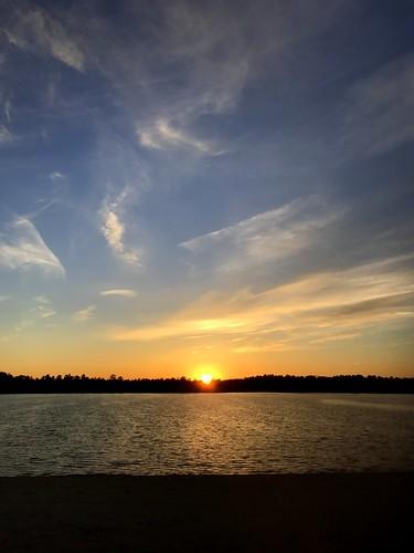 sunset clouds bamber lake lacey nj new jersey