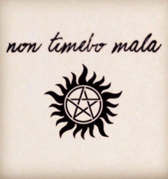 Supernatural tattoo - Non Timebo Mala | Beto | Flickr