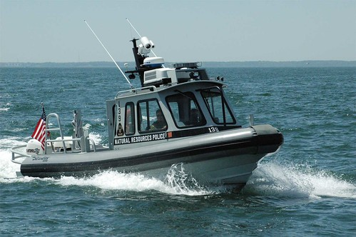 Photo of Maryland Natural Resources police boat on patrol