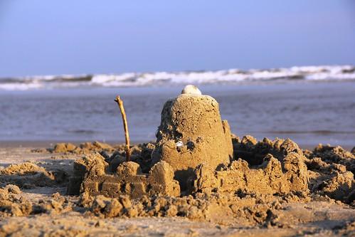 nc sand northcarolina sunsetbeach sandcastle