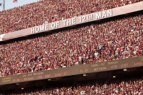 Home of the 12th Man Angle2 - Alabama Game