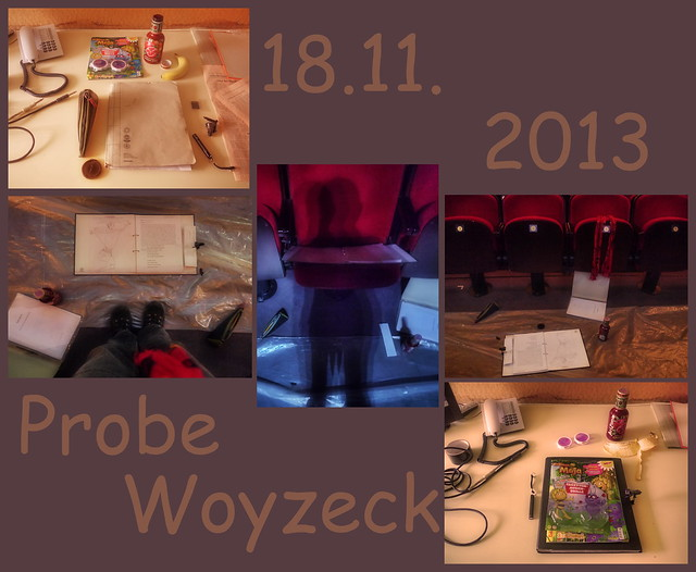 At Work 18.11.2013 Rehearsal Woyzeck - Polyptychon: Before / My Place in the Auditorium / After