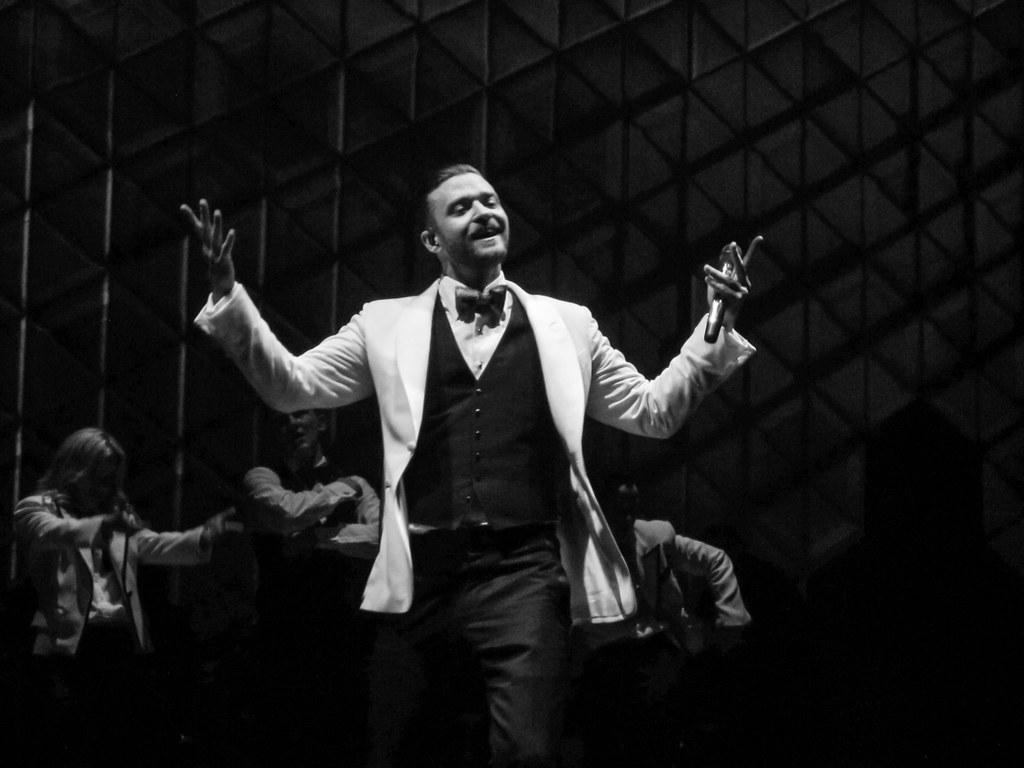 Justin Timberlake performing in Tulsa at the BOK Center