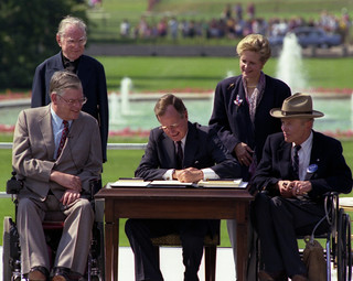 President George H. W. Bush Signs the Americans with Disabilities Act, 07/26/1990 | by The U.S. National Archives