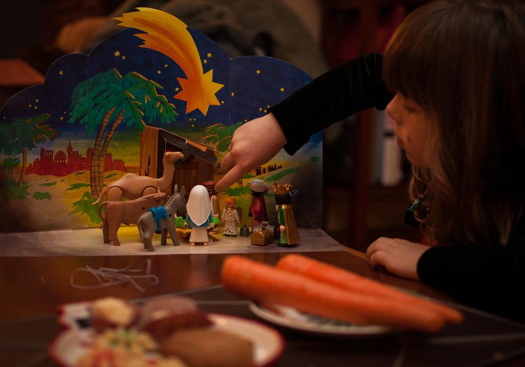 Setting the Nativity on Christmas Eve