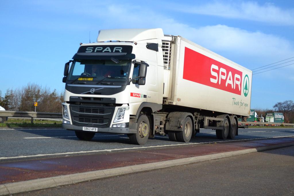 Volvo FM (New Look??) 'SPAR' reg SB63 AFB | A47 | Mike S