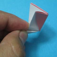 วิธีการพับกระดาษเป็นดอกไม้แปดกลีบ 016