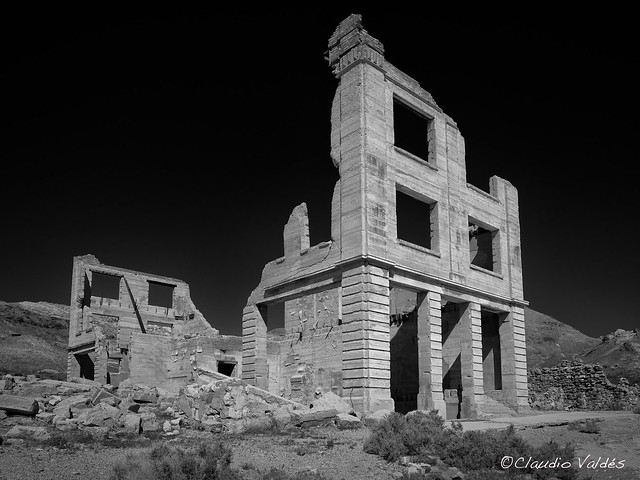 Ruins of the Cook Bank building - Rhyolite, Nevada - Ghost Town