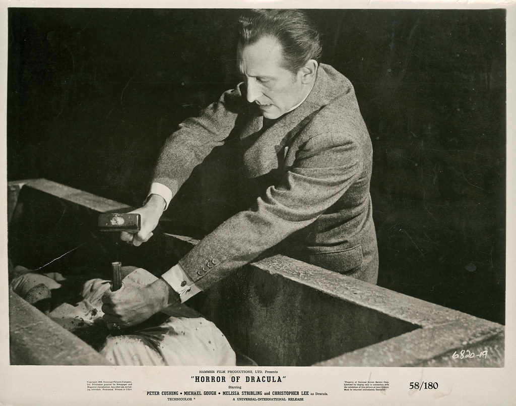 Peter Cushing Christopher Lee Dracula