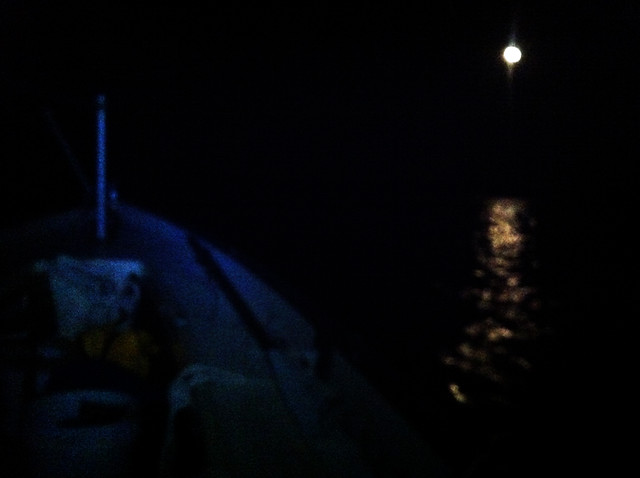 Stockton Lake - Moonlight sailing