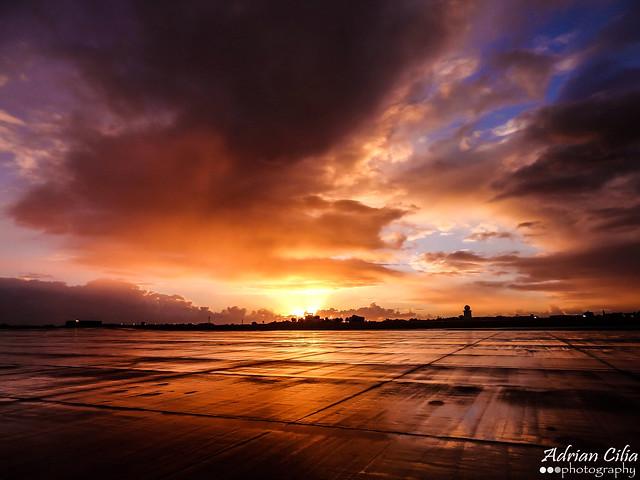 Malta --- Airport --- Sunrise