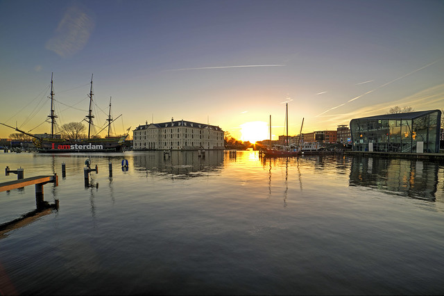 Amsterdam sunrise -picture with Samyang 14mm f2.8