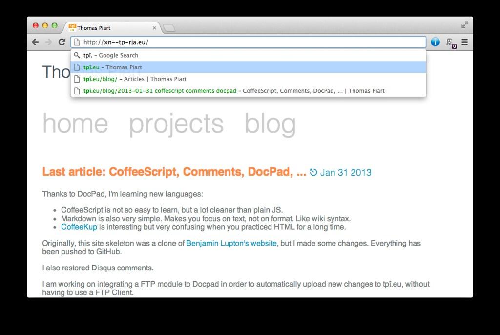Chrome Mac Omnibox | Thomas Piart | Flickr