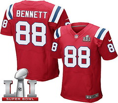 Nike Patriots #88 Martellus Bennett Red Alternate Super Bowl LI 51 Men's Stitched NFL Elite Jersey