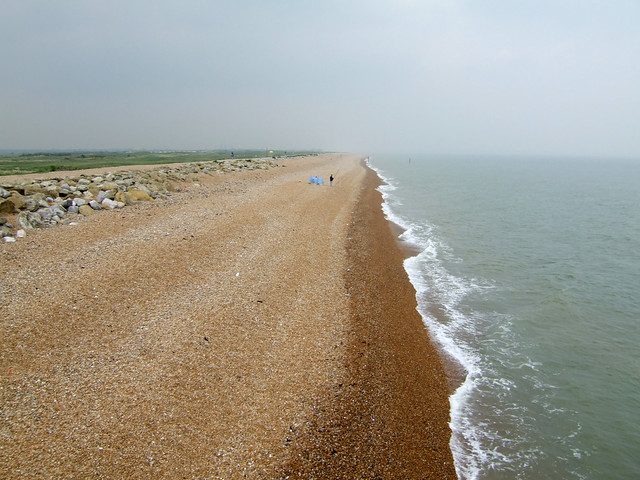 The beach north of Deal