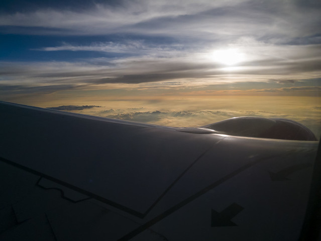 A Sunset Over a Wing