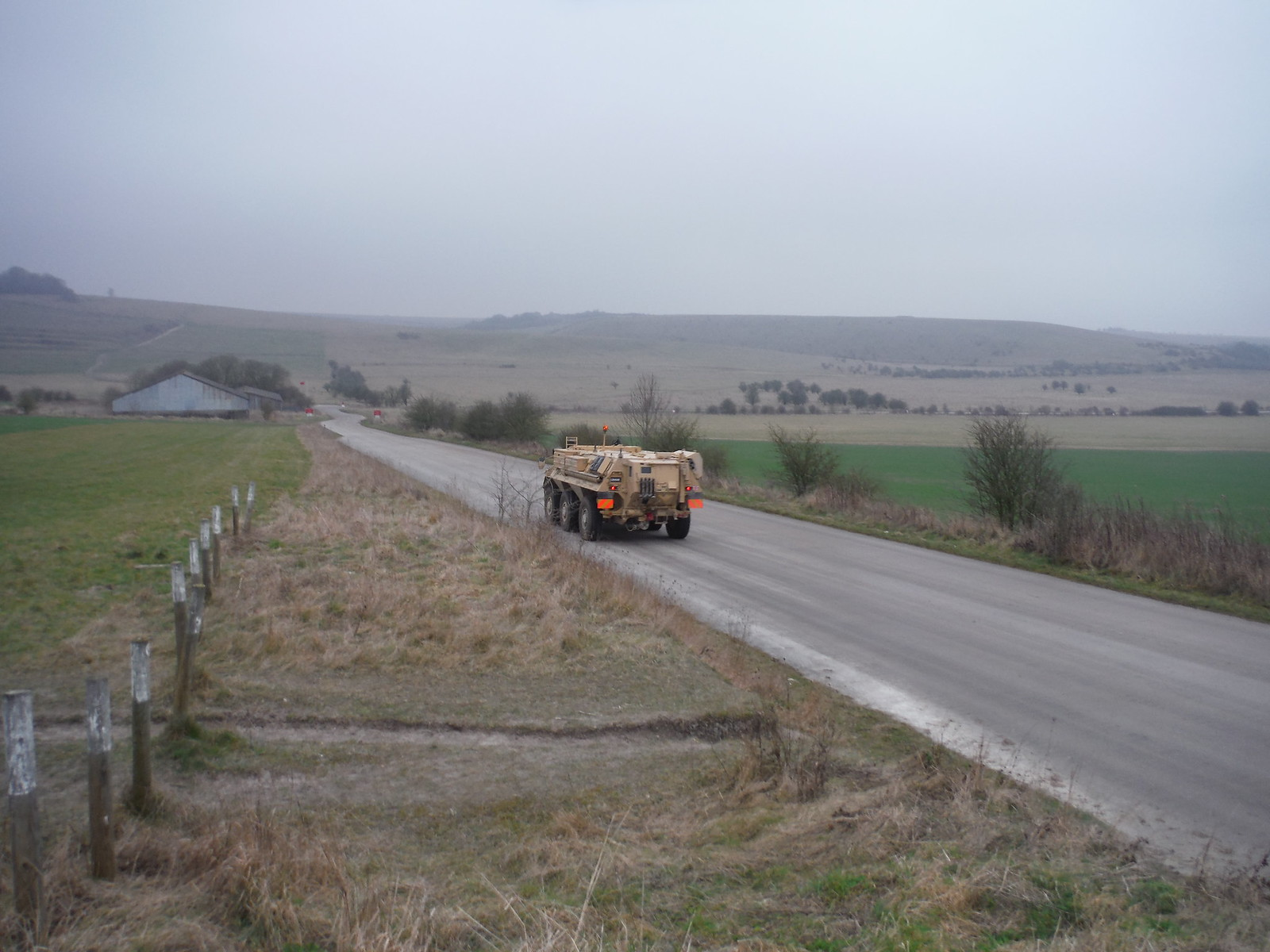 Military Vehicle, near Battlesbury Hill SWC Walk 286 Westbury to Warminster (via Imber Range)