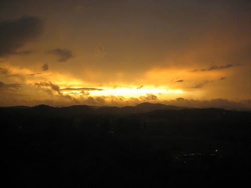 facingwest landscape sunset hotspringsvillage arkansas