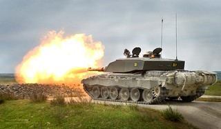 Challenger 2 Tank Live Firing During Exercise | by Defence Images