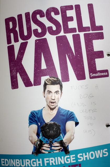Edinburgh Fringe Festival 2013: Russell Kane Vandalised