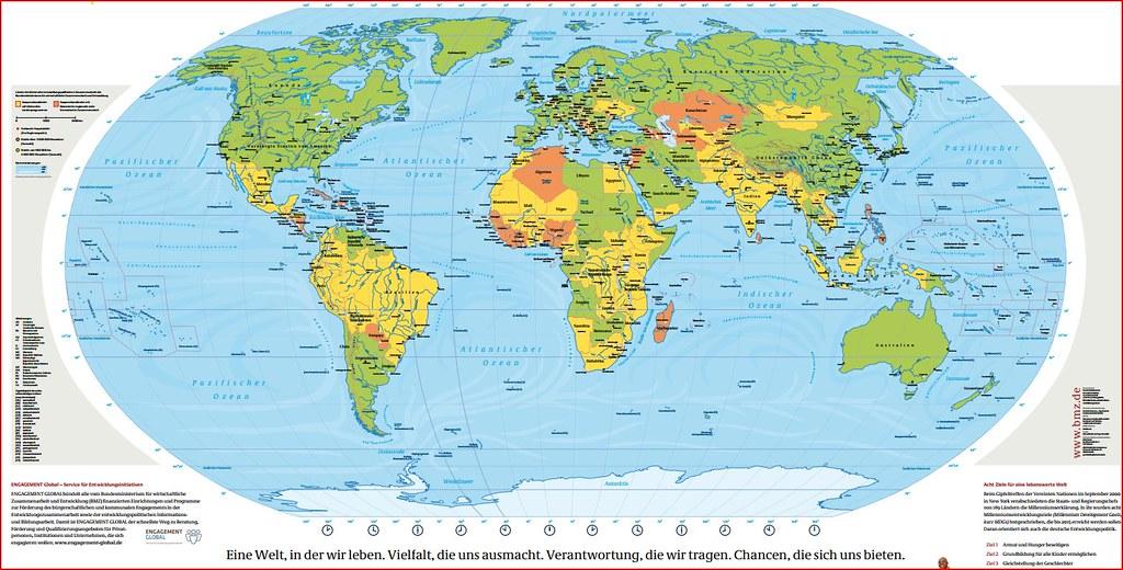 Weltkarte Kostenlose Weltkarte Vom Bundesministerium J Flickr
