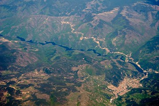 Rhodope Mountains, City of Devin, and Vacha River (Bulgaria)