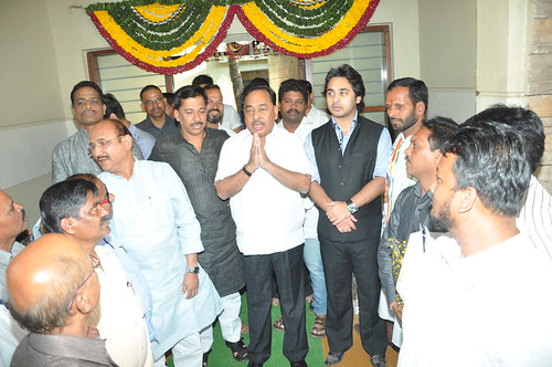 Nilesh Rane at Laxmi Chitra-Mandir Multiplex Inauguration