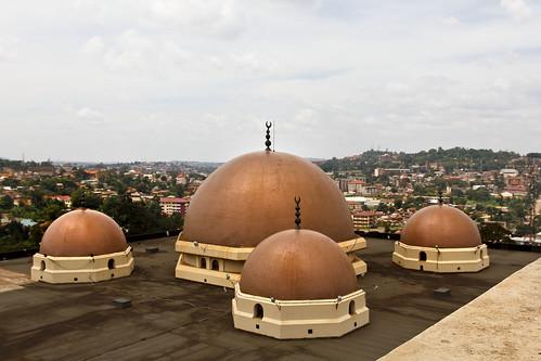 uganda mosque gaddafi minaret kampala domes roof landscape