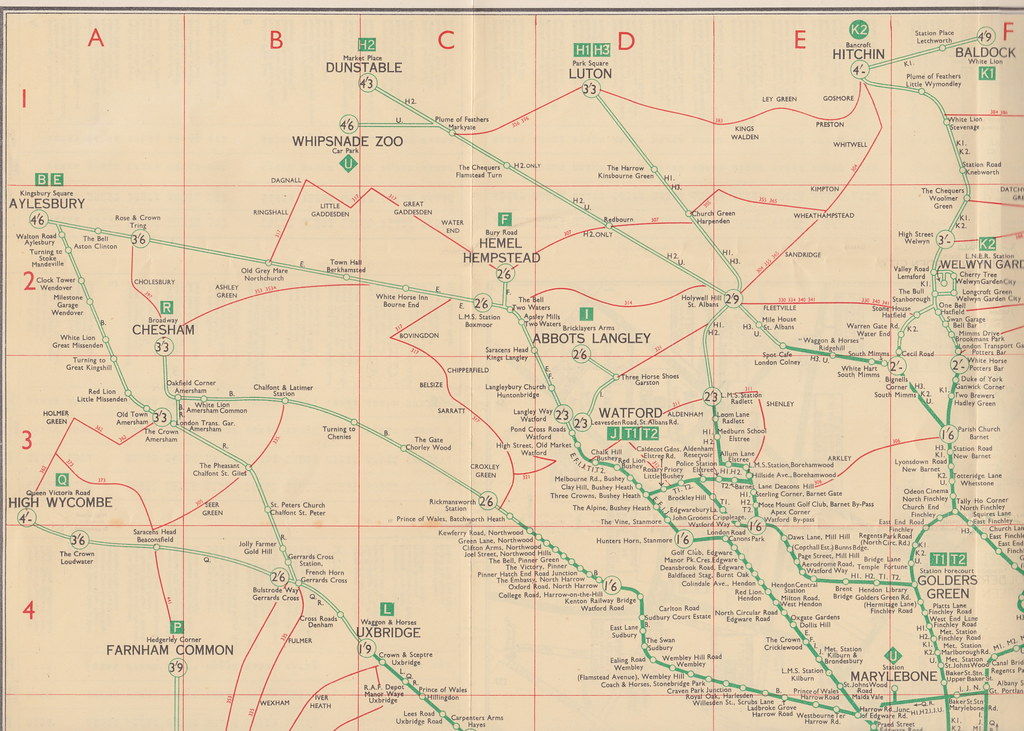 Map North West London.London Transport Green Line Coach Services Map 1936 7 N Flickr