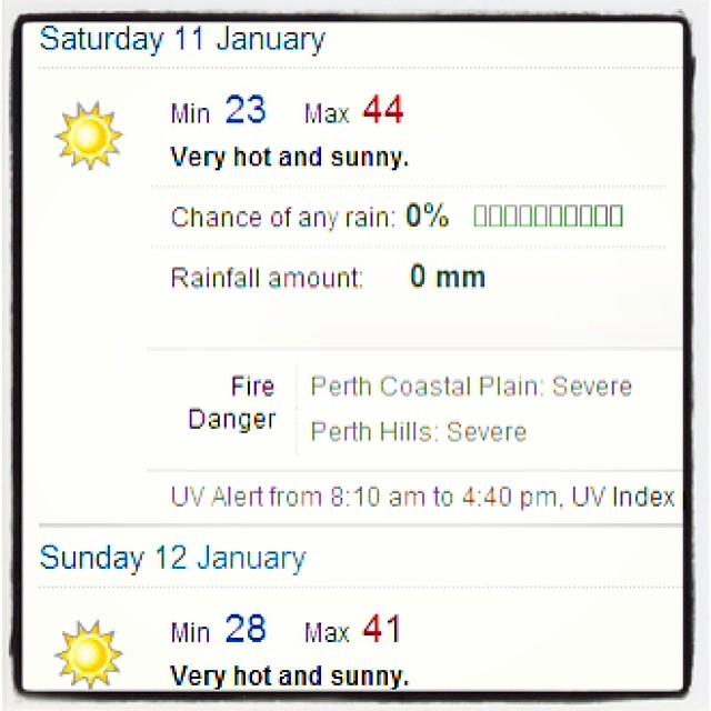 That seems a little excessive     #perth #weather #forecas