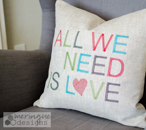 pillow, all we need is love | by meringuedesigns
