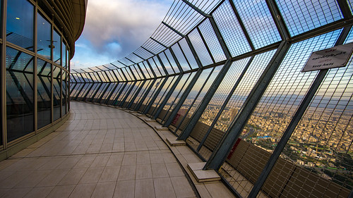 burjemilad milad tower tehran open observation deck iran