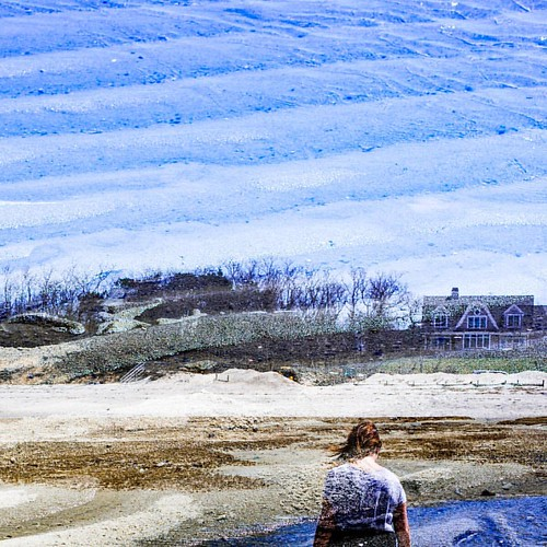 #trans_lucent #doubleexposure #bhportdev @bheventspace #capecodbay #lowtide #bluesky #bluesand #partner #alonetogether | by Robert S Johnson 375