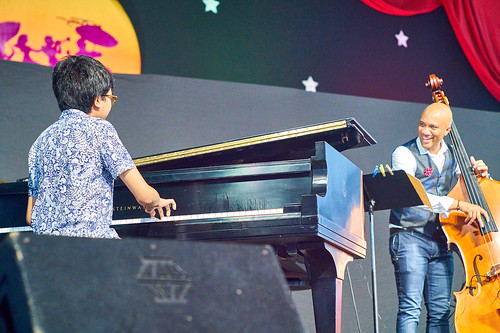 Joey Alexander in the Jazz Tent on April 28 2017 Day 1 of Jazz Fest. Photo by Eli Mergel