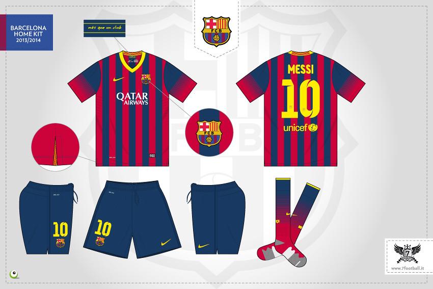 innovative design 8ac65 455ad Barcelona home kit 2013/2014 | More imeages here www.7footba ...