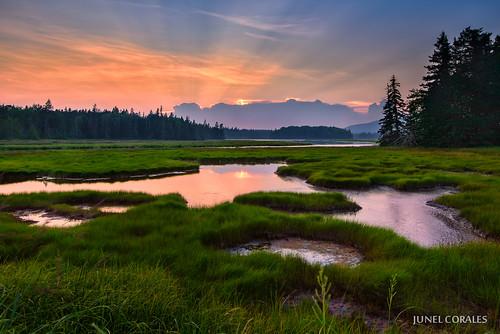 sunset usa me landscape landscapes nationalpark maine newengland marsh nationalparks acadia wetland bassharbor mountdesertisland acadianationalpark usnationalparks leefilters bassharbormarsh leegnd d800e bassharborroad