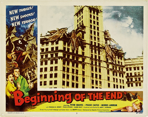 "Beginning of the End (Republic, 1957). Lobby Card (11"" X 14""). 