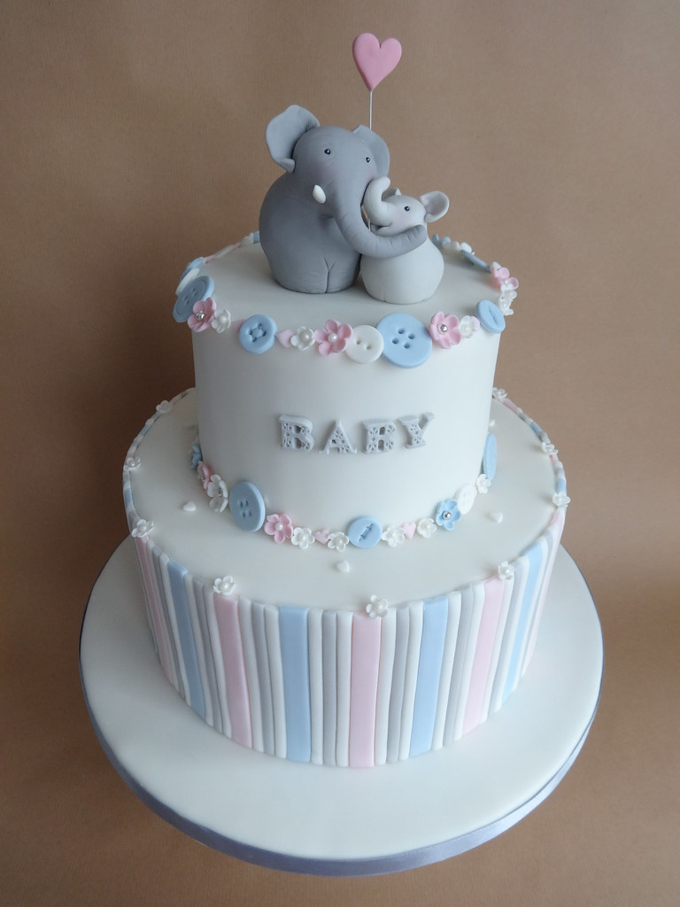 Baby Elephant Shower Here Is The Baby Shower Cake That I