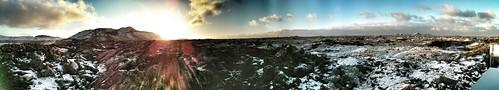 sunrise iceland panoramas bluelagoon