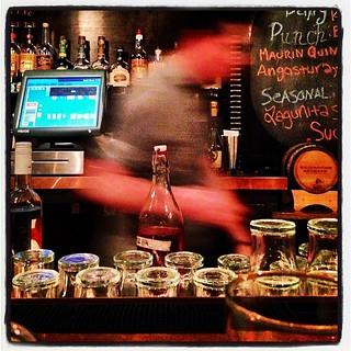 My bartender the blur.