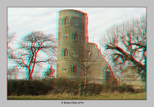 View of Wimpole Castle - 3d anaglyph