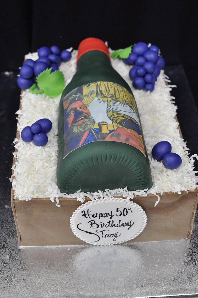 Pleasing Wine Bottle Birthday Cake Jenny Wenny Flickr Funny Birthday Cards Online Unhofree Goldxyz