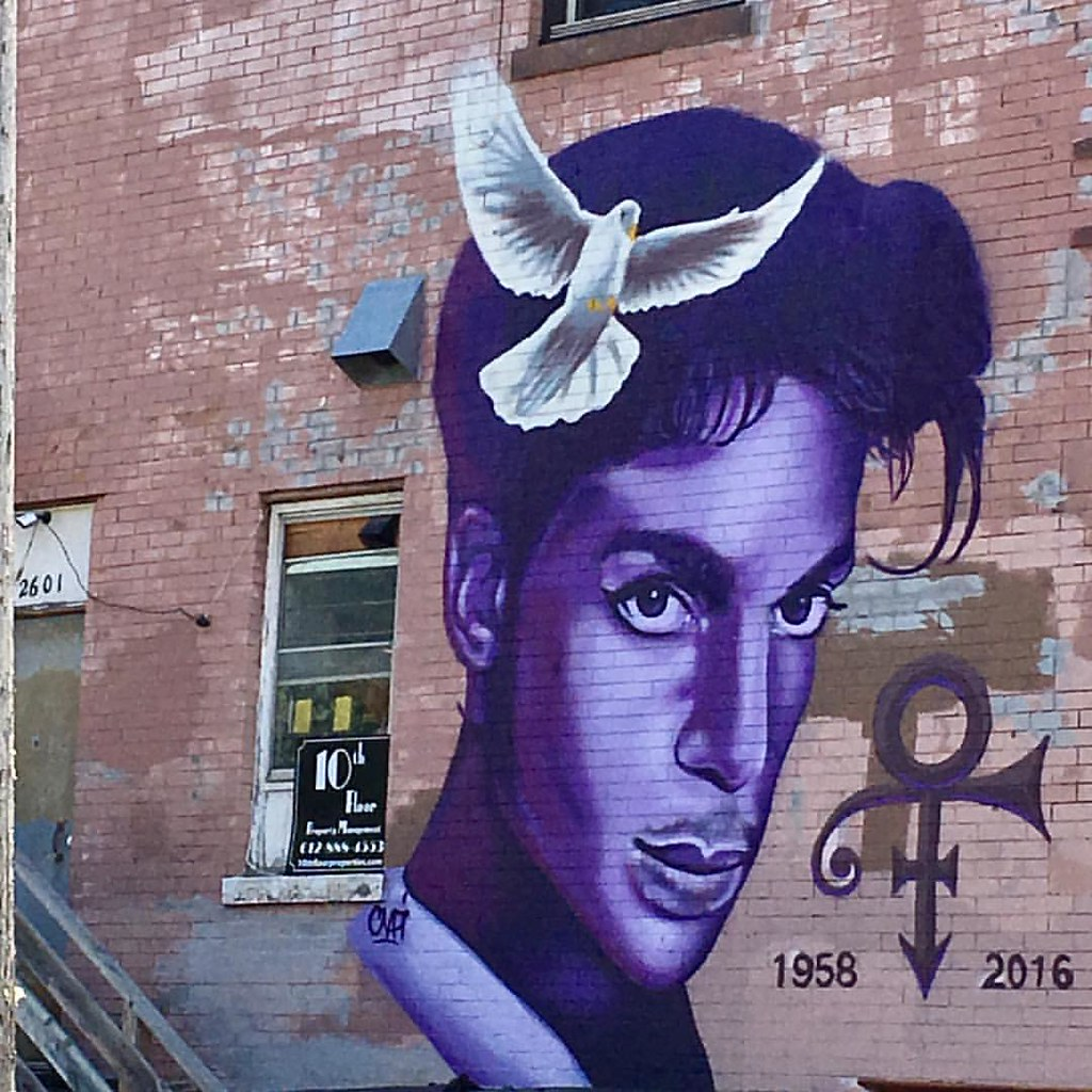 It's a Prince kind of day ... some activity going on at Paisley Park in Chan today  RIP 🙏 Beautiful mural in south Minneapolis  . . . #prince #1yearanniversary #purplerain #paislypark #musicgenious #rip #minnesotaboy