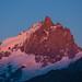 La Meije vue depuis le Plateau D'Emparis au coucher du soleil cet été. by Alexandre Carpentier