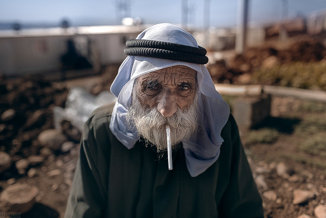 Yezidi farmer, refugee in Zakho camp after having fled Isis in Shingal. A refugee stays on average 17 years in a camp
