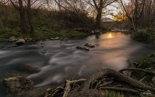 river water navarra españa spain sunset atardecer seda long exposure larga exposicion nikon d4